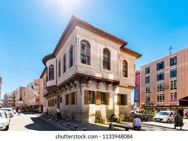 Kayseri, Turkey - July 05, 2018 : Ataturk's House view in Kayseri City. Ataturk was founder of modern Republic of Turkey.