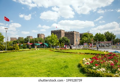 KAYSERI, TURKEY - JUNE 18: The Castle of Kayseri  and Republic Square June 18 2014 in Kayseri, Turkey.