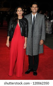 Kayvan Novak and sister, Rosie at the premiere for 'Frankenweenie' being shown as part of the London Film Festival 2012, London. 10/10/2012 Picture by: Steve Vas