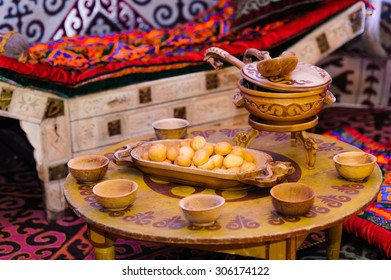 Kazakh national food on the table