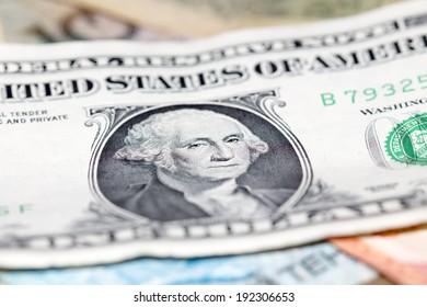 Kazakh tenge and U.S. dollars