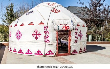 Kazakh yurt in the city