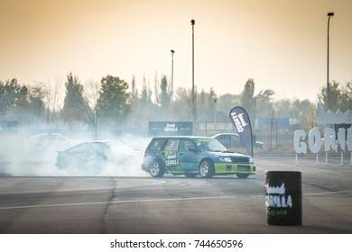 "KAZAKHSTAN, ALMATY - OCTOBER 21: ""Gorilla Drift Energy"", Kazakhstan Championship Drift, October 21 2017, Kazakhstan, Almaty"