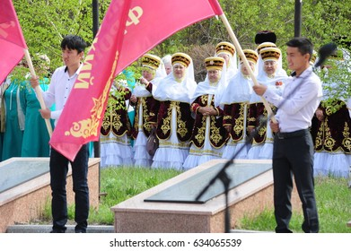 Kazakhstan, May 5 2017. Celebration of the Victory Day in the Second World War.