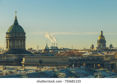 Kazan Cathedral in the evening in St. Petersburg