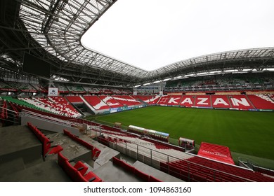 Kazan, Russia - 04.28.2018 Stadium Kazan Arena, which will be held football matches of the 2018 World Cup.