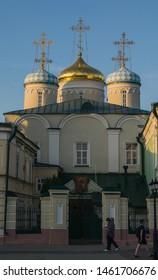 Kazan, Russia - 24 of July 2019: Nikolsky Cathedral on Bauman Street