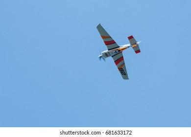KAZAN, RUSSIA, JULY 21: Red Bull Air Race World Championship 2017 on July 21, 2017 in Kazan.