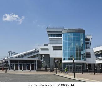 KAZAN, RUSSIA - JUNE 01, 2013: modern part of railway station in Kazan, capital of republic Tatarstan, has been built in 2005.