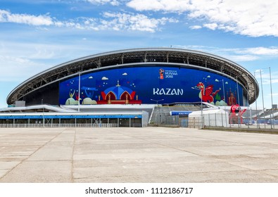 Kazan, Russia - June 12, 2018: Kazan Arena football stadium. Kazan - the city hosting the  World Cup in Russia