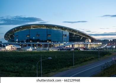 "KAZAN, RUSSIA - June 18, 2017: Stadium ""Kazan Arena"", match Portugal Mexico. FIFA Confederations Cup 2017"