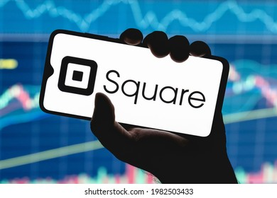 Kazan, Russia - May 30, 2021: Square, Inc. is an American technology company that develops solutions for accepting and processing electronic payments. Square logo on smartphone screen.