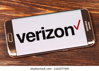 Kazan, Russian Federation - Aug 5, 2018: Verizon website displayed on smartphone