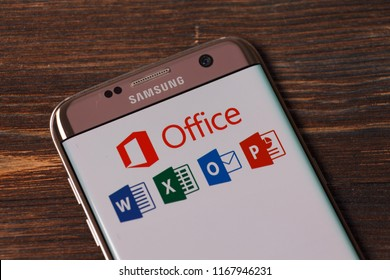 Kazan, Russian Federation - Aug 5, 2018: Microsoft Office applications on the web.