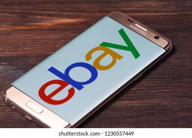 Kazan, Russian Federation - Aug 5, 2018:Close up of ebay app screen. ebay is one of the largest online auction and shopping websites.