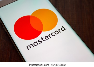 Kazan, Russian Federation - Jan 13, 2018: Modern lifestyle with smartphone to stay connected and browsing using favourite Apps. Payment is easy when you can access with MasterCard Via smartphone