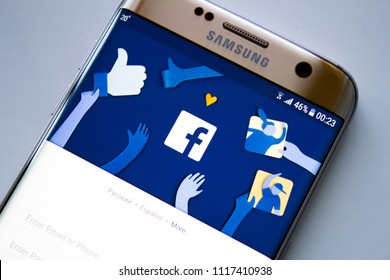 Kazan, Russian Federation - Jun 15, 2018: Home page of social network site Facebook,Facebook notifications of friend request, Facebook is a social networking service, owned and operated by Facebook