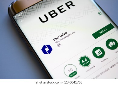 Kazan, Russian Federation - Jun 15, 2018: Uber app on App Store.