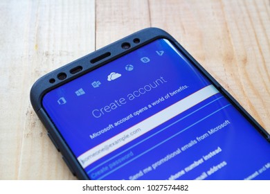 Kazan, Russian Federation - Sep 15, 2017: One Drive application on Samsung s8. OneDrive is a file hosting service that allows users to sync files.