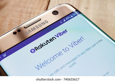 Kazan, Russian Federation - Sep 15, 2017: Viber apps on google playstore. Viber is an instant messaging and Voice over IP (VoIP) app for smartphones developed by Viber Media.