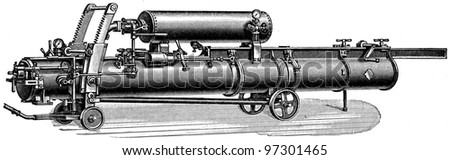 Kazelovsky Mine Gun Illustration Encyclopedia Publishers Stock Photo