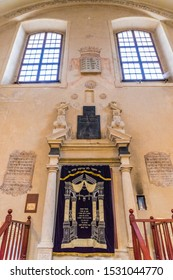 Kazimierz Krakow Poland. May 7 2019. A view of the interior of isaac synagogue in Kazimierz in Krakow