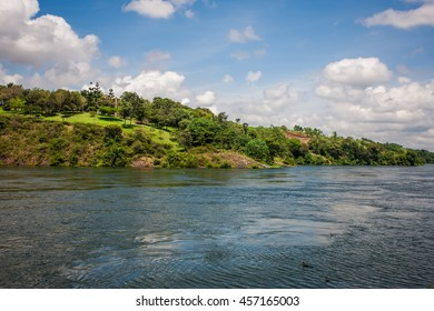 The Kazinga Channel in the Queen Elizabeth National Park in Uganda
