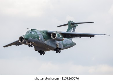 KC-390 Embraer pictured at the 2018 Royal International Air Tattoo at RAF Fairford in Gloucestershire.