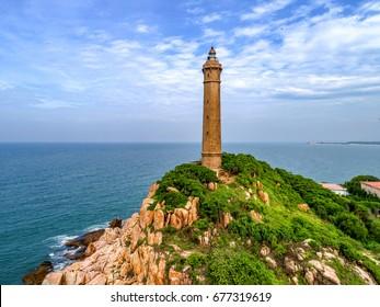 Ke Ga lighthouse, la gi, binh thuan, Vietnam. Aerial view