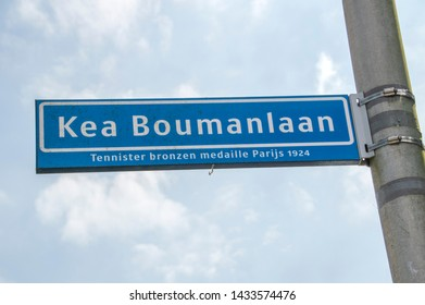 Kea Boumanlaan Street Sign At Amstelveen The Netherlands 2019