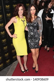 Keavy Lynch and Lindsay Armaou from B*witched arriving for the Lipsy Fashion Awards,  at Dstrkt, London. 29/05/2013