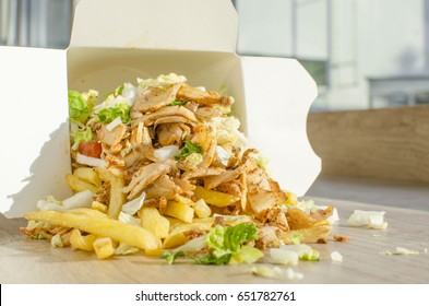 Kebab box with french fries