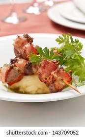 kebab with potatoes