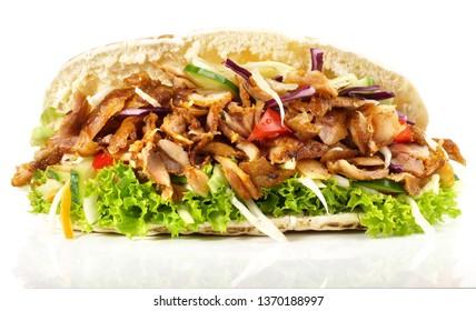 Kebab Sandwich on White