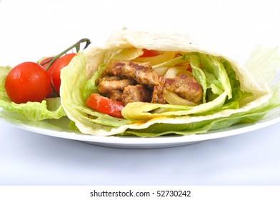 Kebab with vegetable