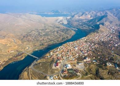 Keban district and Keban Dam lake.