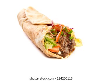 Kebap with grilled beef and vegetables