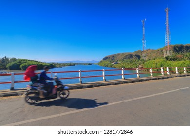 Kebumen, Central java, Indonesia - August 19, 2018: Tourist visiting at ayah beach, Kebumen Regency, Central Java, Indonesia.