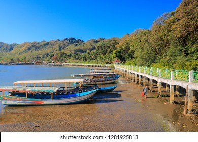Kebumen, Central Java, Indonesia- August 19, 2018: Scenic view in ayah beach, Kebumen, Indonesia.