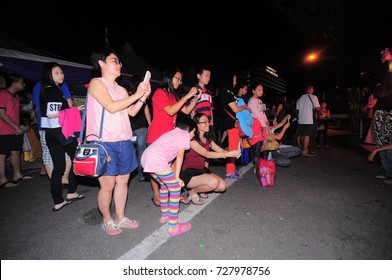 KEDAH, MALAYSIA - 23 SEPTEMBER, 2017: Alor Setar residents are visiting lanterns organized by Chinese people in this country.