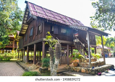 Kedah, Malaysia : 28th December 2020 - Exterior view of Malaysia village traditional house