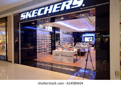 Kedah, Malaysia - March 23, 2017: Skechers store sells a variety of new and trendy sport shoes