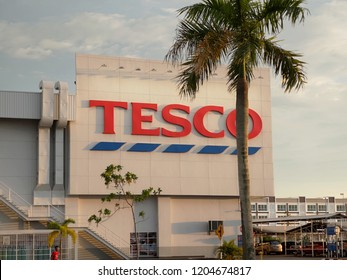 Kedah, Malaysia- October 2018 : Tesco signboard in Alor Star, Kedah Malaysia. The Tesco brand first appeared in 1924.