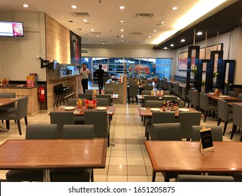 "Kedah,Malaysia - 05-02-2020 : the decoration in the luxury pizza store named ""Pizza Hut"" at Tesco,Kedah,Malaysia."