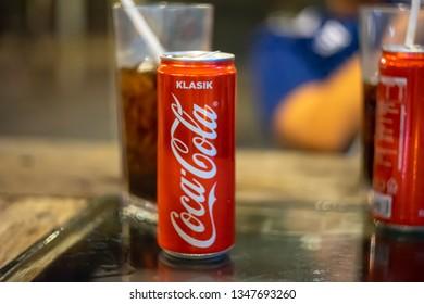 "Kedah,Malaysia - 27-01-2019 :Isolated  ""Klasik"" Coca Cola on the table."