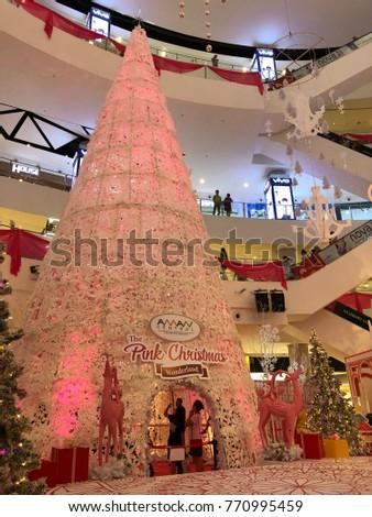 Kedah Malaysia 3082017 Decoration Christmas Shopping Mall Aman Stock