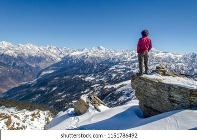 Kedarkantha Trek, Garhwal, Uttarakhand Date-25.01.2018 This was taken from Kedarkantha top, 12500 ft, in the Garhwal Himalaya, within Govind Wildlife Sanctuary in Uttarkashi district.