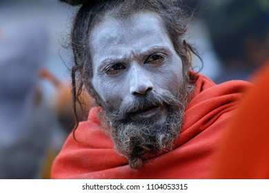 Kedarnath, Uttarakhand, India - May 06, 2012 : Sadhu, An Indian Holy man. Normally a sadhu is a monk, renounced, renounced material enjoyment. In India from 4 to 5 million sadhu.