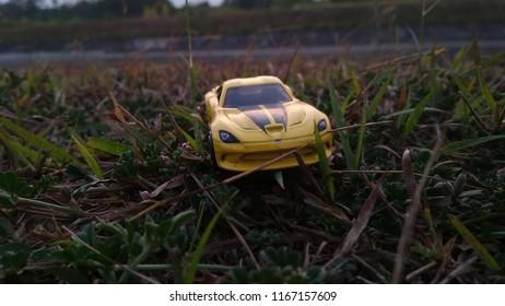 Kediri, Indonesia - August 29, 2018 : Hotwheels diecast model car. Hotwheels diecast made in Malaysia. This is 2013 Viper diecast car.