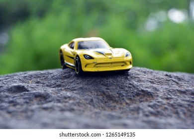 Kediri, Indonesia - December 21, 2018 : Hotwheels diecast model car. Hotwheels diecast made in Malaysia. This is 2013 Viper diecast car.
